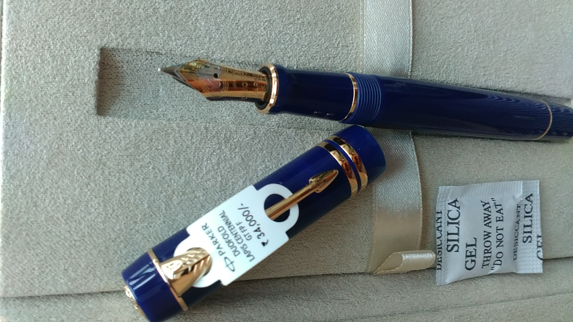 Parker duofold cenntinel lapis lazuli blue for sale RS  24500